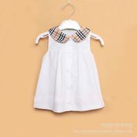 [R&V] 2014 summer new arrival baby girls plaid cute dress infant newborn toddler girl's short sleeve dress brand new clothes