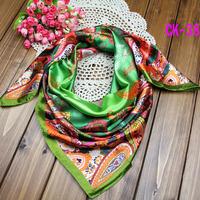 2014 spring models  large square satin silk  scarf bohemian willow headbandS-39