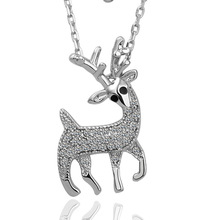 Honey deer pendant with Austrian Crystal  Studded, Fahion Cystal pendant, fit for woman,nice custom jewelry, free shipping.