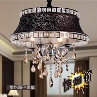 2014 New Lustres De Teto Lustre Fashion Modern Crystal Brief Living Room Lights Restaurant Lamp Romantic Ceiling Light Fabric