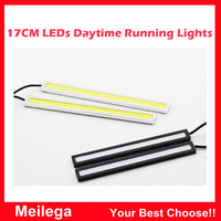 2pcs/1pair 17cm 18W COB DRL Chip New update LED Daytime Running Light 100% Waterproof Fog car lights Free Shipping