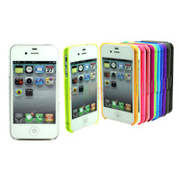 1/12 Colors Ultra Thin Glossy Bumper Skin Protector Cover Case for iPhone 4S 4 4th