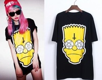 The new 2014 harajuku Simpson printing women Simpsons T-Shirt free shipping