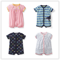 2014 New ,Carter's Baby Boys And Girls Snap-up Striped Creeper & Woven Print Sun Suit , Baby Cute Fashion Romper , Freeshipping
