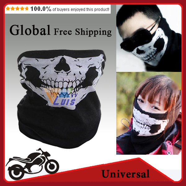 New Motorcycle skull face mask scarf ski snowboard bike scooter face protective helmet neck warm outdoors motorbike cycling mask(China (Mainland))