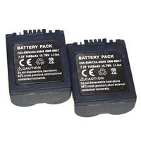 HOT 2pcs/set 1480mAh CGA-S006 S006E Camera Battery  For Panasonic CGR-S006A/1B BP-DC5U CGR-S006E Dropshipping