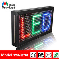 P10 Full Color Programmable Led Display Sign 32*64pixels