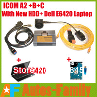 DHL Free! 2014.02 New Version ICOM A2+B+C with HDD Software+Laptop DEL E6420+USB Key with Expert Mode English language