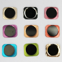 Colorful Ring +Black Metal Aluminum home button for iPhone 5G replace home button become 5S Style >>>100% same 5s