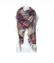 za Winter 2014 Tartan Scarf Desigual Plaid Scarf New Designer Unisex Acrylic Basic Shawls Women's Scarves Big Size 140 *140 CM(China (Mainland))