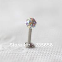 Free shiping 2014 New Body piercing jewelry earrings ear stud CZ 1/pc Labret lip piercing jewelry C0293