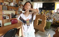 2014 new women t-shirt summer loose shirt animal print o-neck short-sleeve T-shirt Free Shipping