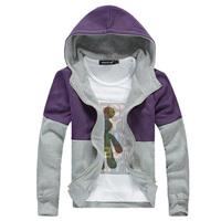 2014 Spring Autumn New Fashion Men Sport Hoodies Casual Slim Fit Zipper Sweatshirts Brand Fashion Clothing High Quality