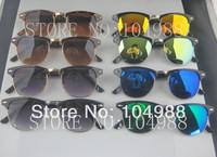 FREE SHIPPING! HOT SALE 2014 Luxury Fashion Unisex Retro Elegant Metal Sunglasses Half Frame Sunglasses 8 Colors
