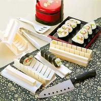 10Pcs Practical Home Kitchen Dinner Healthy Sushi Maker Kit Rice Mold Making Set
