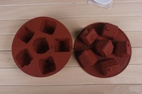 silicone cake molds wholesale 6 lattices small house styling bread pudding dessert molds DIY baking molds Handmade soap moulds