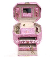 2014 birthday gift for woman dangle earring box brooch box jewerly organizer, jewelry box