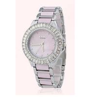 Women dress ceramic  natural diamond quartz watch dial senior Shell women rhinestone  New 2014