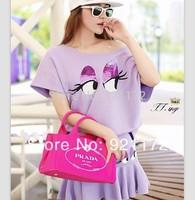 spring 2014 new sweet little loose top t-shirt short skirt set chiffon shirt women sexy wedding casual dress