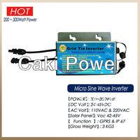 IP65 Waterproof & Communication solar power inverters 300W 230AC grid tie inverters solar micro inverters microinverters