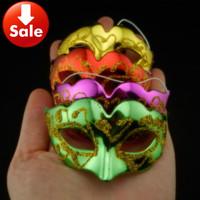 Cute Mini Mask Gold Plating Venetian Masquerade Party Decoration Carnival Wedding Favor Christmas Gift 300pcs/lot free shipping