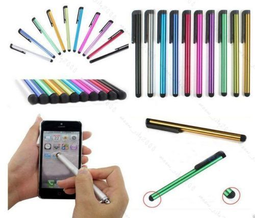 10 pcs Universal Metal mini Stylus Touch Screen Pens For iPhone , Tablet , Laptops Universal Phones Stylus Styluses Pen