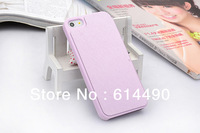 one piece  Luxury case tpu leather cover shell outer covering for apple iphone 5/5S NEW