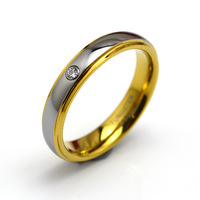 4MM Women's Tungsten Carbide Ring Wedding Band WIth CZ Inlay size 4-8 Free Shipping TU046R