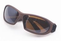 2PCS\LOT 3107N-brown Unisex Fashion Sport Cycling Glasses Fashion Driving Mirror sunglasses Free Shipping