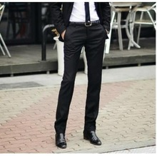2014 New Men'S Pants Spring/Summer/Autumn Men's Slim Fit Casual Pants Fashion Straight Dress Pants Skinny Pants Smooth Trousers(China (Mainland))