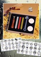 Customized Vintage sealing wooden wax stamp gift box  birthday name  Word for DIY Scrapbooking/Card Making/Wedding Decoration