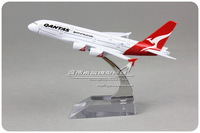 16cm Air Australia Qantas Airlines AIRBUS A380 VH-OQA Airplane Model Plane Model Souvenir Collections Free Shipping