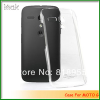 High Quality! Brand IMAK Crystal Clear Hard Back Case Cover for moto g,10pcs/lot HK free shipping