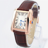 New Model Fashion Lady/Women Dress Lady Watch leather watch Stainless Steel Female Hours Bracelet Watch 3 Colors