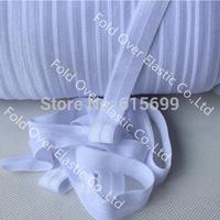 White FOE Ribbon-100Yards for #029 white- Fold over elastic-Welcome custom foe print