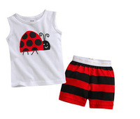 New arrival retail 2 pcs/set 2014 summer fashion sport infant boy clothes cartoon T-shirt + kids pants baby boys clothes set