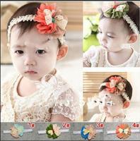 2015 new Baby girls Headbands Newborn hairbands With Rosette Flower Toddler Infant Haeadwear hair accessories  10pcs
