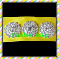 25mm round  shape rhinestone button for wedding invitation