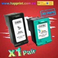 CB336HE CB338HE printer ink Cartridge for HP 140xl 141xl 140 141 DeskJet 5363 D4263 PhotoSmart C4283 C4343 C5283 D5363...(1pair)