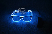 EL glow/flashing wire glasses--  blue frame