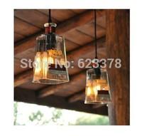 2014 Lustre 1pcs Free Shipping New Design Winebottler Glass Led Edison Pendant Lights Bar Living Room Bedroom Ceiling Lamp