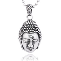 Men's titanium steel jewelry wholesale silver pendants Thai style Buddha Sakyamuni Buddha pendant BP8-026