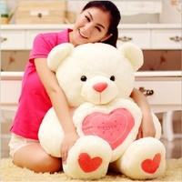 Birthday Valentines Gift Hold The Heart Bear Lovers Babybear Wedding Plush Toy High Quality Teddy Bear 3 Colors Size 60cm
