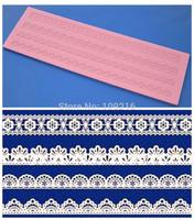 Free shipping!!1pcs New Style Big 39.5*12*0.4CM Pretty Lace (HY174) Silicone Handmade Fondant/Cake Decorating DIY Mold