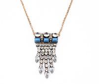 Fashion fashion accessories vintage crystal tassel medium-long sweater necklace pendant necklaces pendants best friend