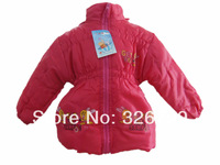 Hot new 2014 100% cotton-padded 4 colors girls winter coats and jackets for children retail and wholesale