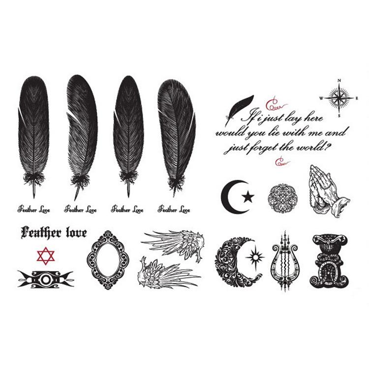 Hot Selling Designs Feathers Wings Mirror Temporary Tattoo Waterproof Body Tattoo Stickers Body Art Drop Shipping MU-016(China (Mainland))