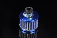 Free Shipping12mm Blue MINI OIL AIR INTAKE CRANKCASE VENT COVER BREATHER FILTER [QPL144]