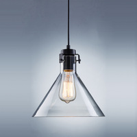 Traditional industrial metal pendant light lamp fixture with adjustable cord and glass for home bar restaurant  TN-YJ-MD8236