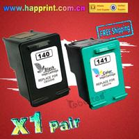CB335HE CB337HE printer ink Cartridge for HP 140 141 Black + Color DeskJet 5363 D4263 PhotoSmart C4283 C4343 C5283 D5363 (1pair)